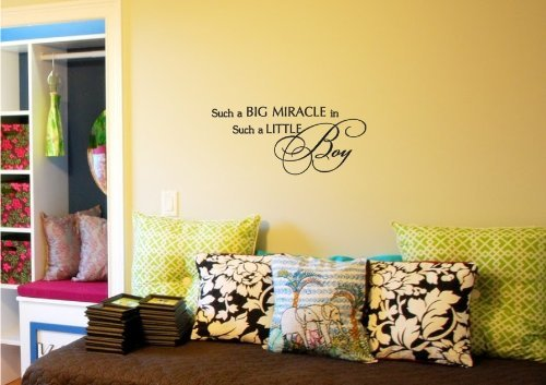 Such a big miracle in such a little boy Vinyl wall art