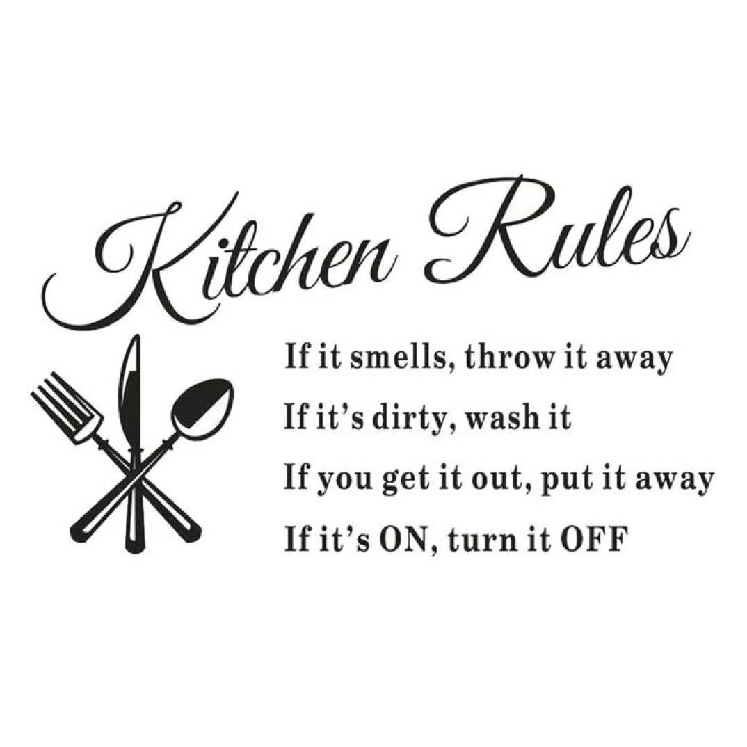 Kitchen Rules Words Wall Stickers Decal