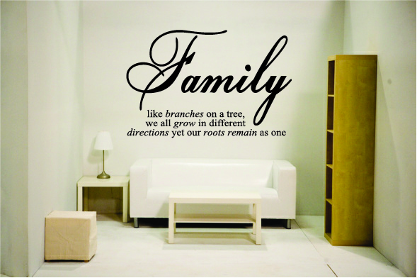 Family Like the branches of a tree Grow in different directions,
